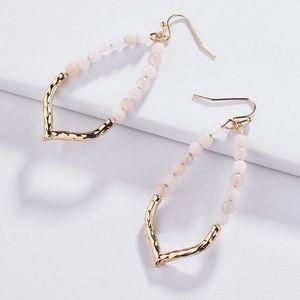 EARRINGS | Rose Quartz Dangle Earrings